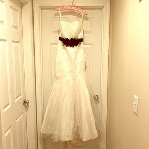 "White House Black Market ""Victoria"" wedding gown."
